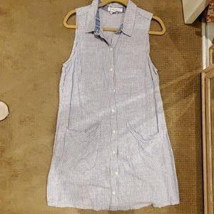 BCBGeneration Linen Striped Dress